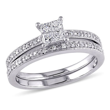 jcpenney.com | 1/3 CT. T.W. White Diamond 10K Gold Bridal Set