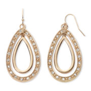 nicole by Nicole Miller® Gold-Tone Teardrop Dangle Earrings