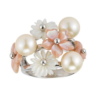 jcpenney.com | White Cultured Freshwater Pearl & Mother-of-Pearl Ring