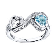 Love Grows™ Blue & White Topaz Heart Ring