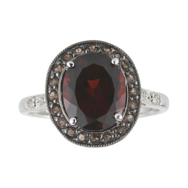 jcpenney.com | Garnet, Brown Quartz & White Sapphire Ring