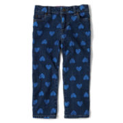 Arizona Heart Jeans - Girls 12m-6y