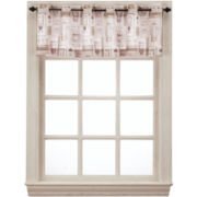 Latte Grommet-Top Tailored Valance