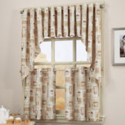 Latte Grommet-Top Kitchen Curtains