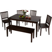 Shaker 6-pc. Dining Set