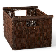 CLOSEOUT! Michael Graves Design Natural Wicker Storage Basket