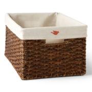 Michael Graves Design Natural Woven Lined Storage Basket