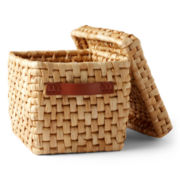 Michael Graves Design Natural Corn Husk Storage Basket + Lid