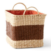 CLOSEOUT! Michael Graves Design Natural Colorblock Storage Basket