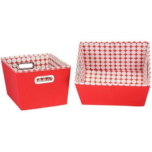Household Essentials® 2-pc. 2-Toned Storage Bins