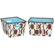 Household Essentials® 2-Piece Tapered Print Storage Bin Set