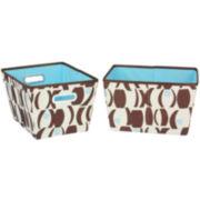 Household Essentials® 2-Piece Tapered Print Storage Bin Set