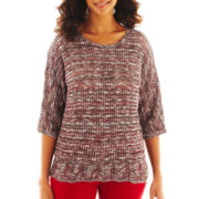 Lark Lane® Open-Crochet Sweater