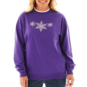 Fleece Graphic Christmas Sweatshirt