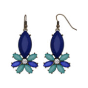 Mixit™ Blue & Green Flower Drop Earrings