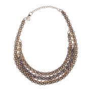 Gemma Simone™ Two-Tone Multi-Row Chain Necklace