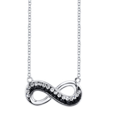 jcpenney.com | Crystal Sophistication™ Jet and Clear Crystal-Accent Infinity Necklace