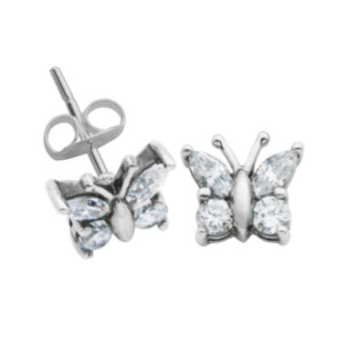 jcpenney.com | Sterling Silver Cubic Zirconia Butterfly Stud Earrings