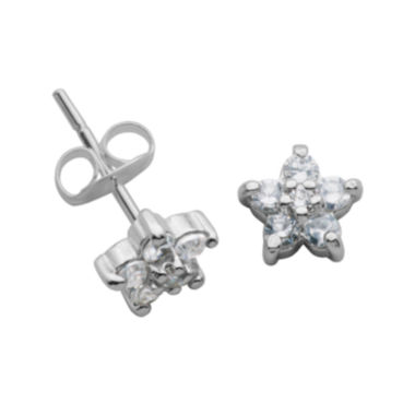 jcpenney.com | Sterling Silver Cubic Zirconia Flower Stud Earrings