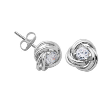 jcpenney.com | Sterling Silver Cubic Zirconia Love Knot Stud Earrings