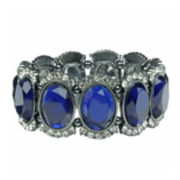 Mixit™ Hematite Oval Blue Stretch Bracelet