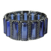 Mixit™ Hematite Rectangular Blue Stretch Bracelet