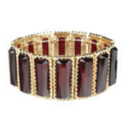 Mixit™ Hematite Rectangular Red Stretch Bracelet