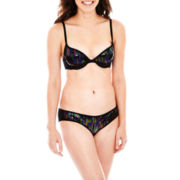 Flirtitude® My Fave Pushup Bra or Sequin Hipster Panties