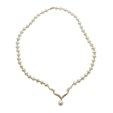 jcpenney.com | Cultured Freshwater Pearl Diamond-Accent Necklace