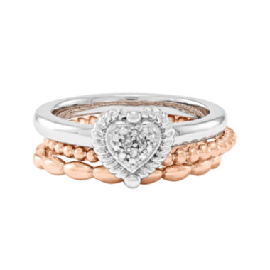 jcpenney.com | Personally Stackable 3-pc. Two-Tone Ring Set