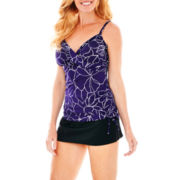 Trimshaper® Side-Ruffle Tankini Swim Top or Skirted Bottoms
