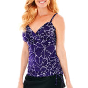 Trimshaper® Side-Ruffle Tankini Swim Top