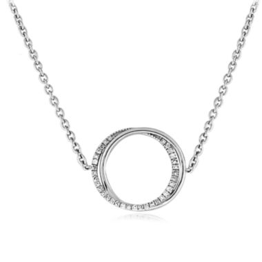 jcpenney.com | 1/10 CT. T.W. Diamond Sterling Silver Circle Necklace