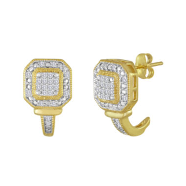 jcpenney.com | 1/3 CT. T.W. Diamond Square Frame Earrings