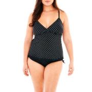 Trimshaper® Tankini Swim Top or Brief Bottoms - Plus