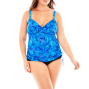 Trimshaper® Side-Tie Tankini Swim Top or Brief Bottoms - Plus