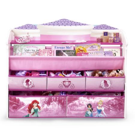 Disney princess multi bin toy organizer pink disney princess