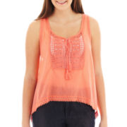 Arizona Crochet-Trim Cami - Plus