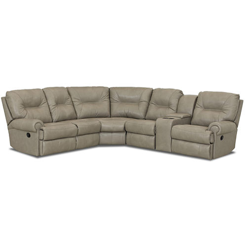 Brinkley 5-pc. Leather Reclining Motion Sectional