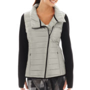 Xersion™ Asymmetrical-Zip Puffer Jacket