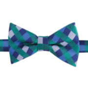 IZOD® Collegiate Plaid Pre-Tied Bow Tie