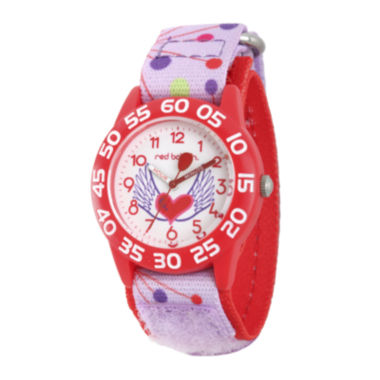 jcpenney.com | Red Balloon™ Girls Pink Heart Strap Watch