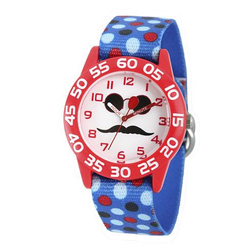 Red Balloon™ Boys Blue Mustache Strap Watch