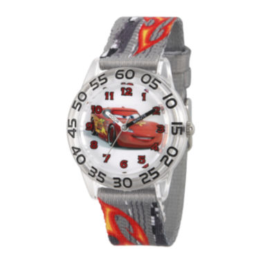 jcpenney.com | Disney® Cars Boys Gray Strap Watch