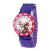 Disney® Girls Purple Frozen Strap Watch