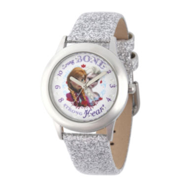 jcpenney.com | Disney® Frozen Girls Silver Strap Watch
