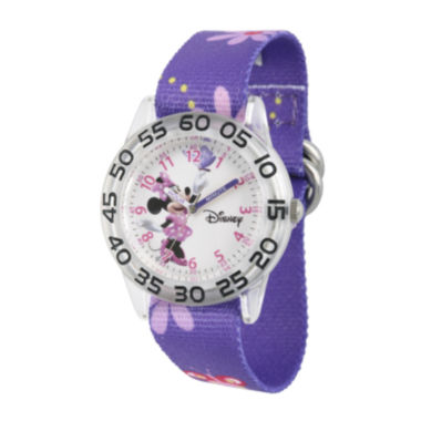 jcpenney.com | Disney® Minnie Mouse Girls Purple Strap Watch