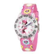 Disney® Minnie Mouse Girls Pink Strap Watch