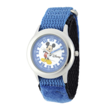 jcpenney.com | Disney® Mickey Mouse Boys Blue Strap Watch