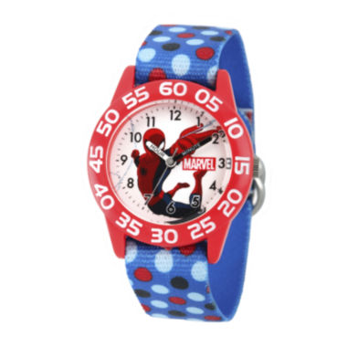 jcpenney.com | Marvel® Spiderman Boys Blue Strap Watch
